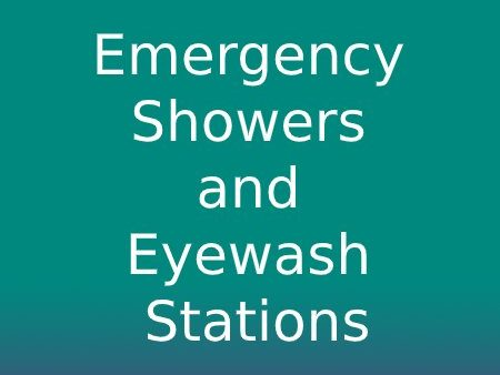 Emergency Showers and Eyewash Stations